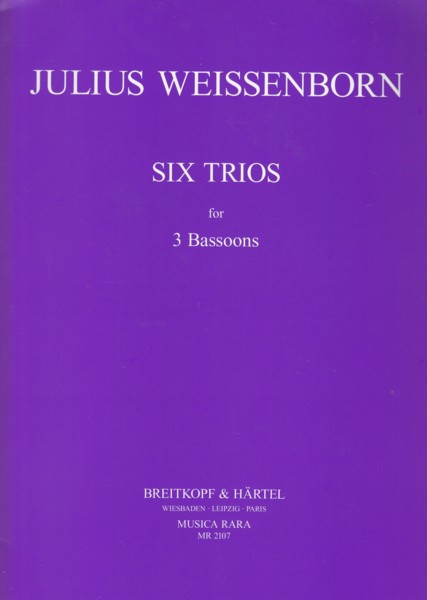 Image for Six Trios for 3 Bassoons - Set of Parts