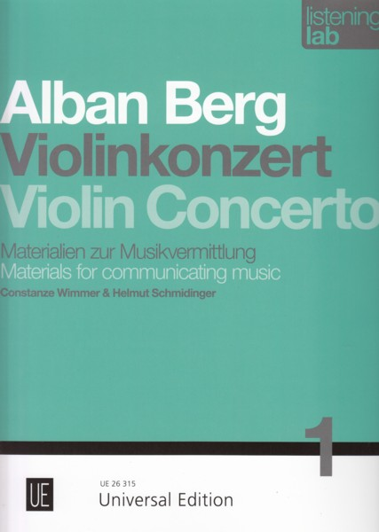 Image for Alban Berg Violin Concerto - Materials for communicating music.