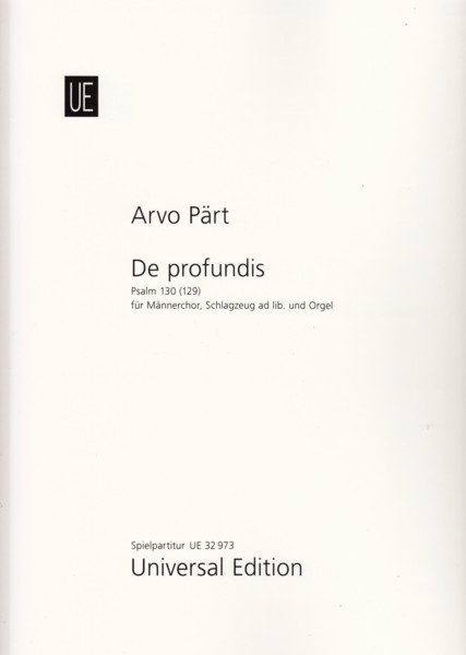 Image for De Profundis Psalm 130 (129) - Score and Parts