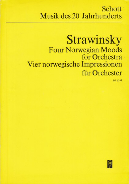 Image for Four Norwegian Moods for Orchestra (1942) - Study Score