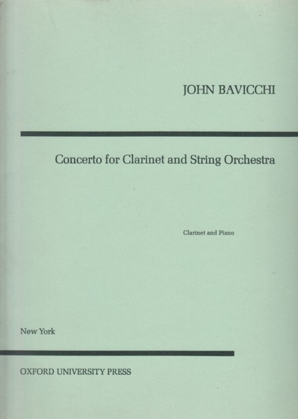 Image for Concerto for Clarinet and String Orchestra - Clarinet & Piano