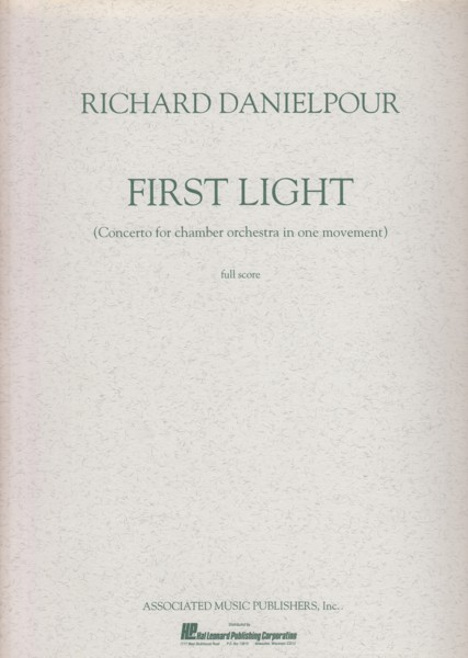 Image for First Light (Concerto for Chamber Orchestra in One Movement) - Full Score