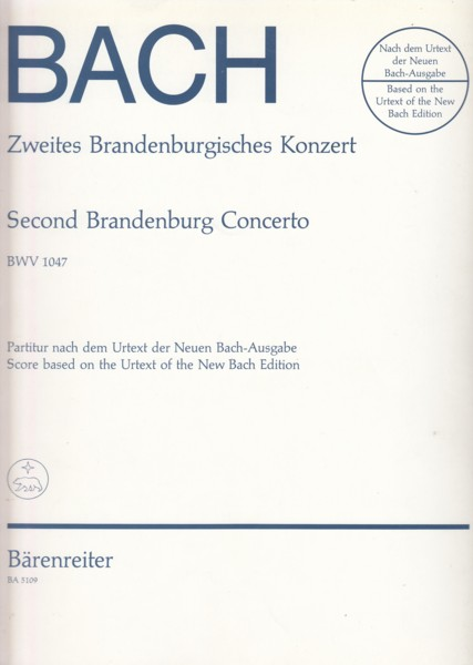 Image for Brandenburg Concerto No.2 in F, BWV 1047 - Full Score