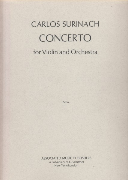 Image for Concerto for Violin and Orchestra - Full Score