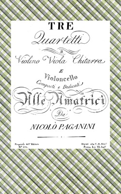 Image for Three Quartets for Violin, Viola, Guitar and Cello, Op.5 - Set of Parts