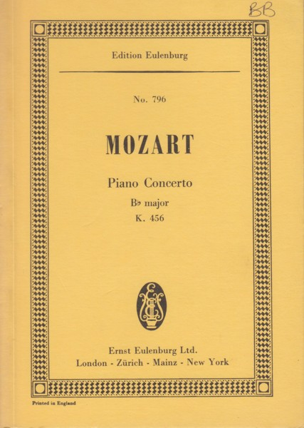 Image for Piano Concerto No.18 in B flat major, K.456 - Study Score