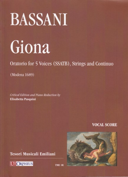 Image for Giona, Oratorio for 5 Voices (SSATB), Strings and Continuo - Vocal Score
