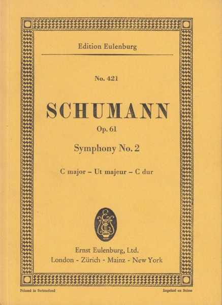 Image for Symphony No.2 in C major, Op.61 - Study Score