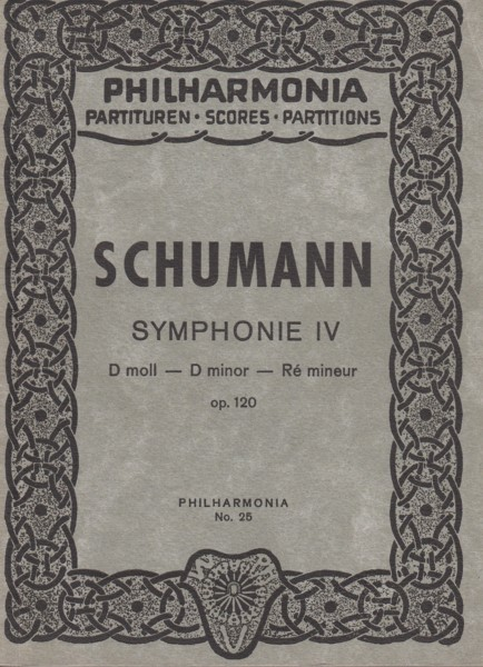 Image for Symphony No.4 in d minor, Op.120 - Study Score