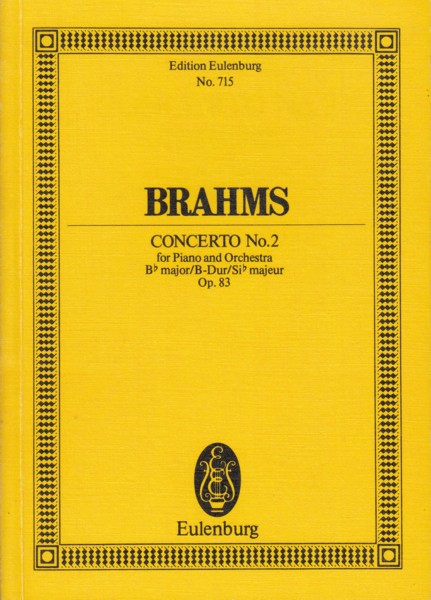 Image for Piano Concerto No.2 in B flat major, Op.83 - Study Score