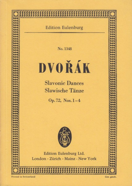 Image for Slavonic Dances Op.72, Nos.1-4 - Study Score