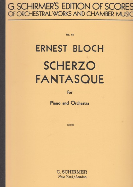 Image for Scherzo Fantasque for Piano and Orchestra - Full Score