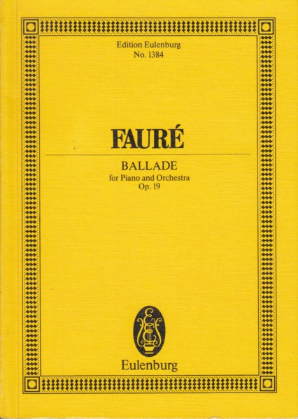 Image for Ballade for Piano and Orchestra, Op.19 - Study Score