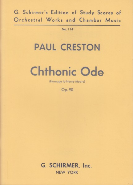 Image for Chthonic Ode (Homage to Henry Moore) Op.90 - Study Score