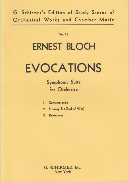 Image for Evocations, Symphonic Suite for Orchestra - Study Score