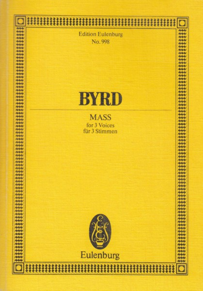 Image for Mass for 3 Voices - Study Score