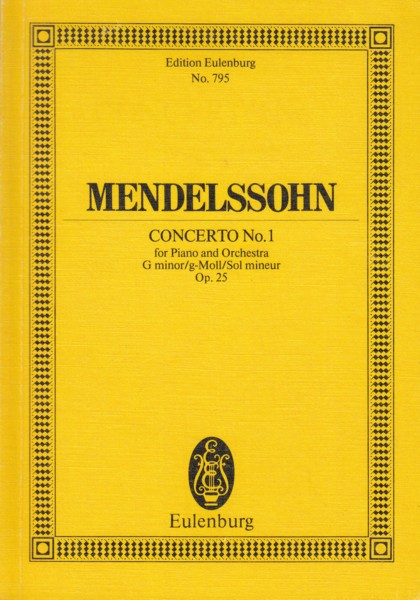 Image for Piano Concerto No.1 in G minor, Op.25 - Study Score