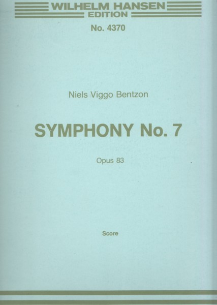 Image for Symphony No.7, Op.83 - Full Score