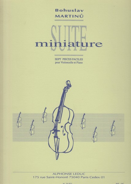 Image for Suite Miniature -  Seven Easy Pieces for Cello & Piano