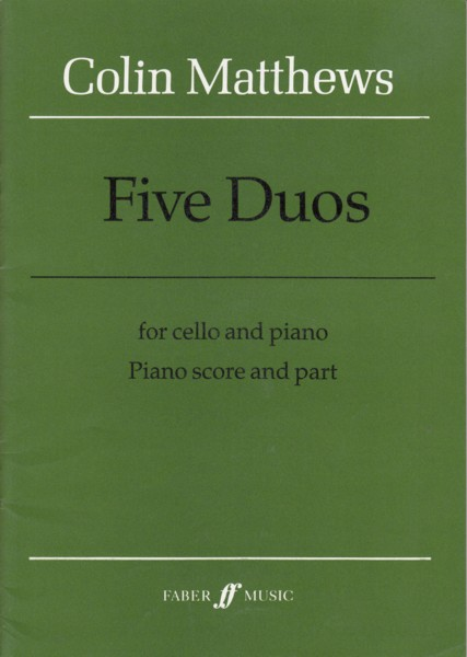 Image for Five Duos for Cello & Piano (1985)