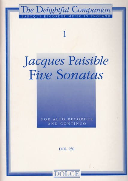Image for Five Sonatas for Treble Recorder & Continuo