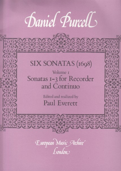Image for Sonatas 1 - 3 for Treble Recorder & Continuo (1698)