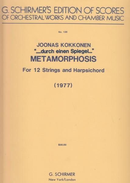 """""""....durch einen Spiegel...."""" Metamorphosis for 12 Strings & Harpsichord (1977) - Full Score"""