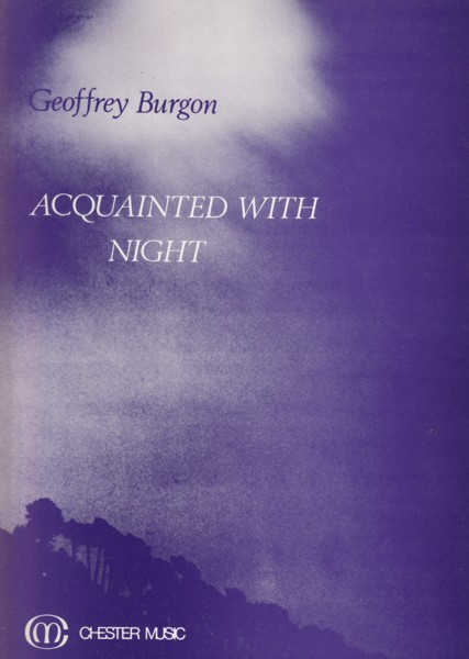 Image for Acquainted with Night for Alto and Chamber Orchestra - Full Score