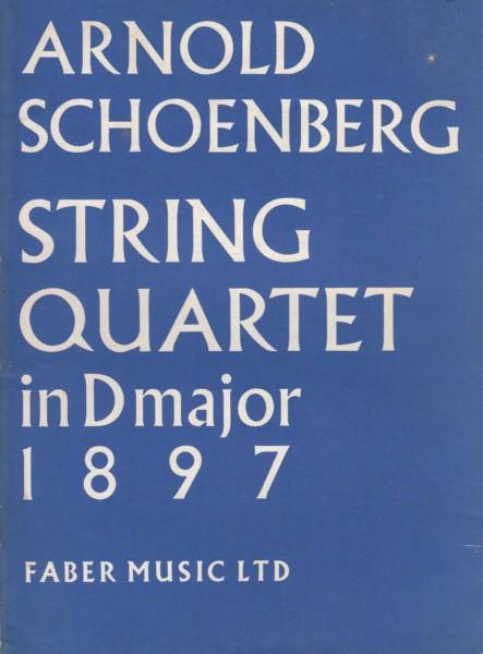 String Quartet in D major (1897) - Study Score