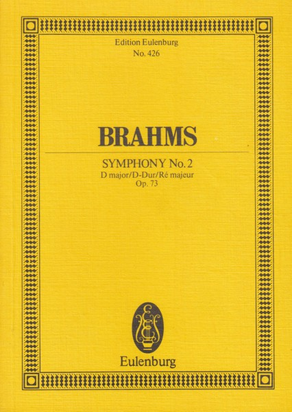 Image for Symphony No.2 in D major, Op.73 - Study Score