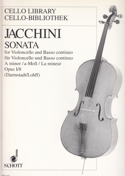 Image for Sonata in a minor Op.I/8 for Cello and Basso continuo