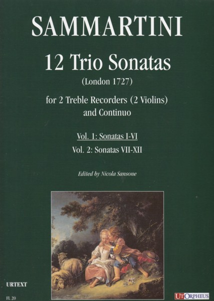 Image for 12 Trio Sonatas (London 1727) for 2 Treble Recorders (2 Violins) and Basso Continuo - Vol.1: Sonatas I - VI