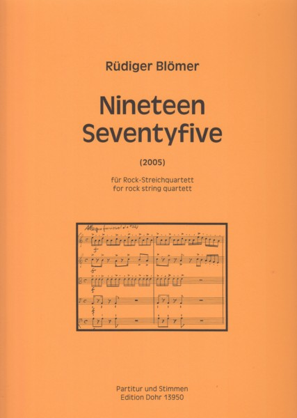 Image for Nineteen Seventyfive (2005) for Rock String Quartet - Score & Parts