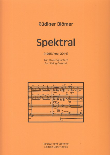 Image for Spektral (1995/rev.2011) for String Quartet - Score & Parts