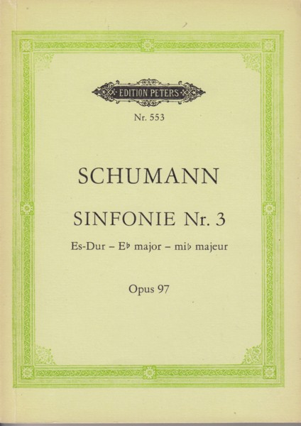 "Image for Symphony No.3 in E flat major, Op.97 ""Rhenish"" - Study  Score"