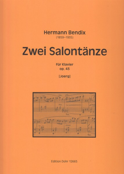 Image for Zwei Salontänze for Piano, Op.43