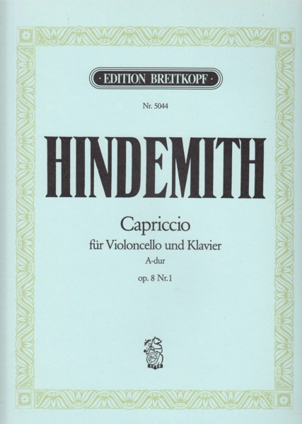Image for Capriccio for Cello and Piano in A major, Op.8 No.1