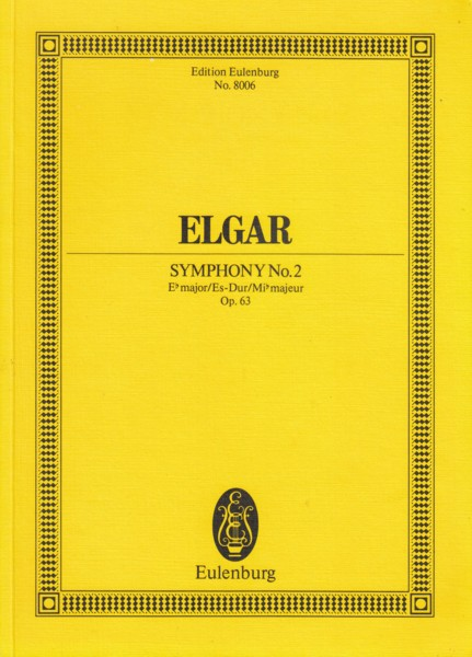 Image for Symphony No.2 in E flat, Op.63 - Study Score