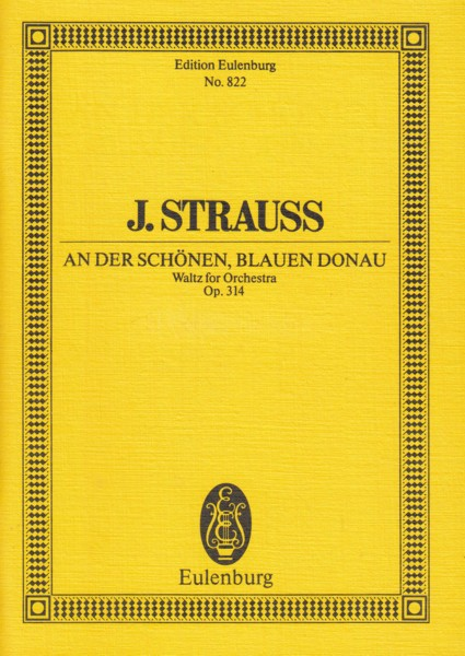 Image for The Blue Danube, Waltz Op.314 - Study Score
