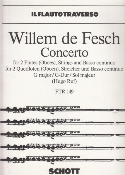 Image for Concerto for 2 Flutes (Oboes), Strings and Basso continuo in G major, Op.10/8 - Flutes & Piano