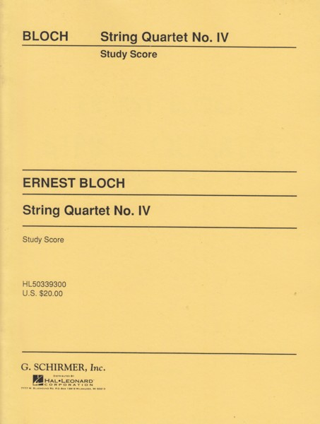 Image for String Quartet No.4 - Study Score