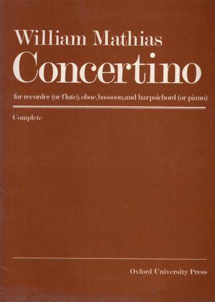 Image for Concertino for Recorder (Flute), Oboe, Bassoon and Harpsichord (Piano) - Set of Parts