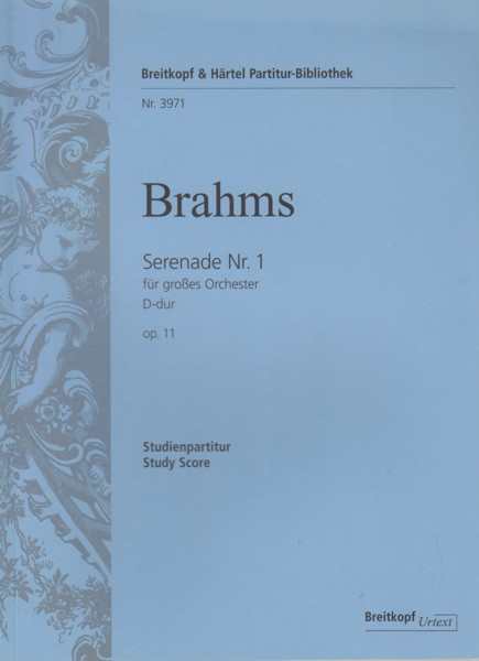 Image for Serenade No.1 in D, Op.11 - Study Score