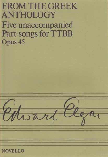 Image for From the Greek Anthology, Five unaccompanied Part-songs for TTBB - Choral Score