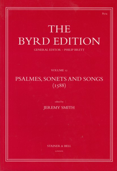 Image for Psalmes, Sonets and Songs (1588) - The Byrd Edition Volume 12