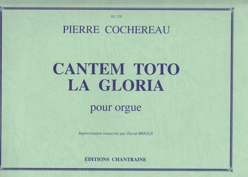 Image for Cantem Toto La Gloria pour Orgue