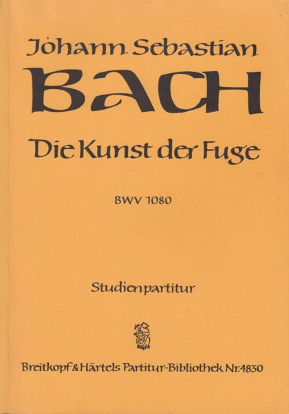 Image for The Art of Fugue, BWV 1080 - Study Score
