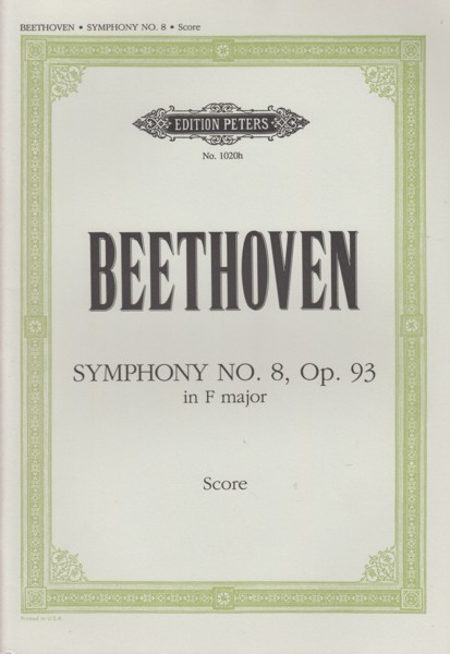 Image for Symphony No.8 in F major, Op.93 - Study Score
