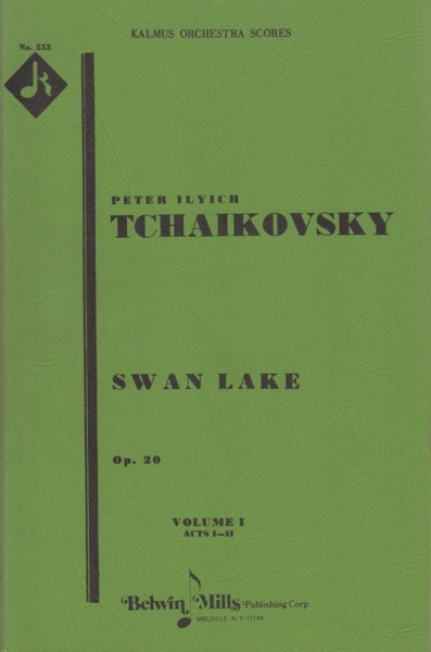 Image for Swan Lake, Ballet in 4 Acts, Op.20 - Study Score (2 Volumes)