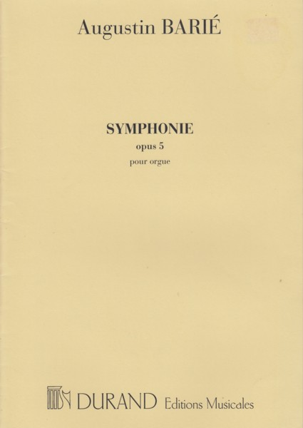 Image for Symphonie Op.5 pour Orgue